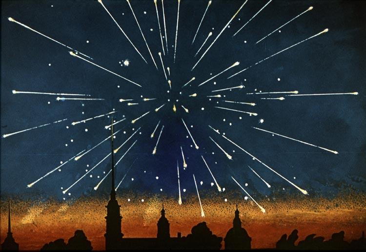 Сегодня ночью ожидается звездный ливень
