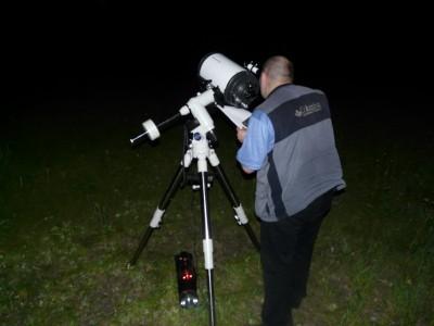 Я с телескопом LXD-75 в поисках кометы Макнота