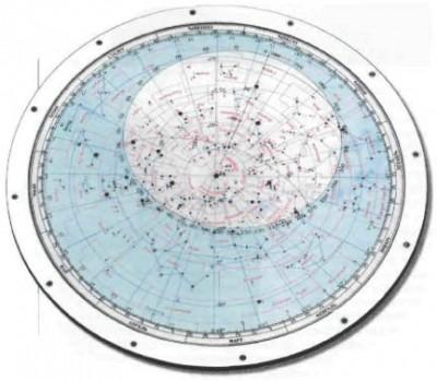 Подвижная карта звездного неба, вид сбоку