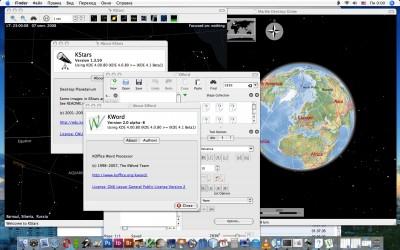 KDE 4.1 на Mac OS X 10.4.11