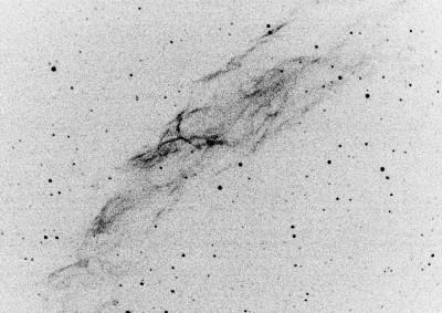 NGC 6992, после обработки в SAOImage DS9 и GIMP