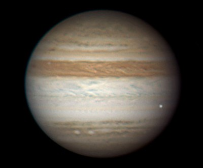 Снимок вспышки на Юпитере 3 июня 2010 г.