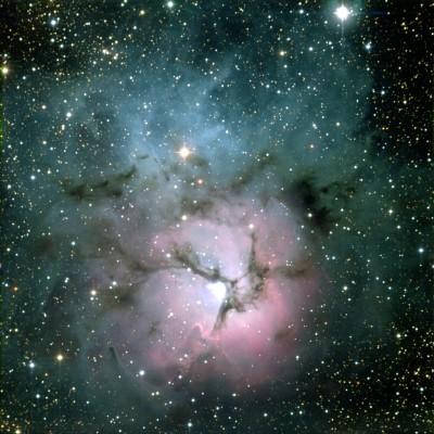 M20 в видимом свете (Авторские права на изображение: Todd Boroson/NOAO/AURA/NSF)