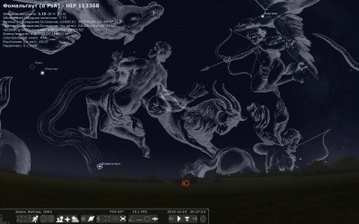 Stellarium с гравюрами Яна Гевелия