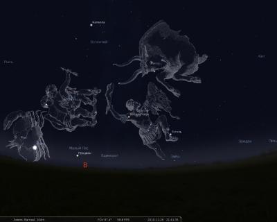 Созвездия Флемстида в Stellarium'е
