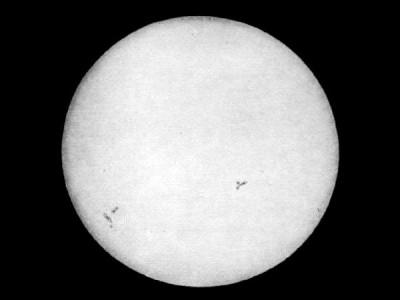 Первый фотоснимок Солнца