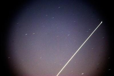 """Пролёт МКС 3 марта. 2-й кадр, """"цветной"""" JPEG."""