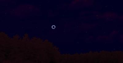 Вид короны в Starry NIght во время полного солнечного затмения