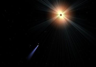Хвост кометы в Starry Night