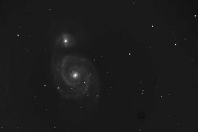 Снимок M51 2011 года после обработки в SAOImage DS9 и GIMP