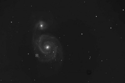 Снимок M51 2011 года с отмеченной SN 2011dh