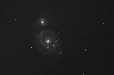 Снимок M51 2005 года с отмеченной SN 2005cs