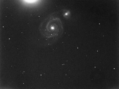 M51 - тестовый снимок на фокусировку и точность наведения