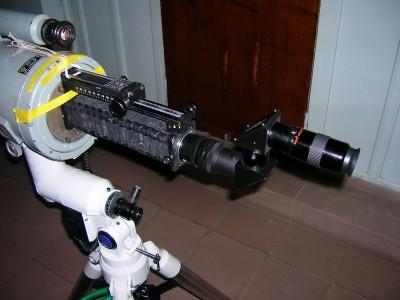 Вид на АЗТ-9 с новым фокусёром сзади